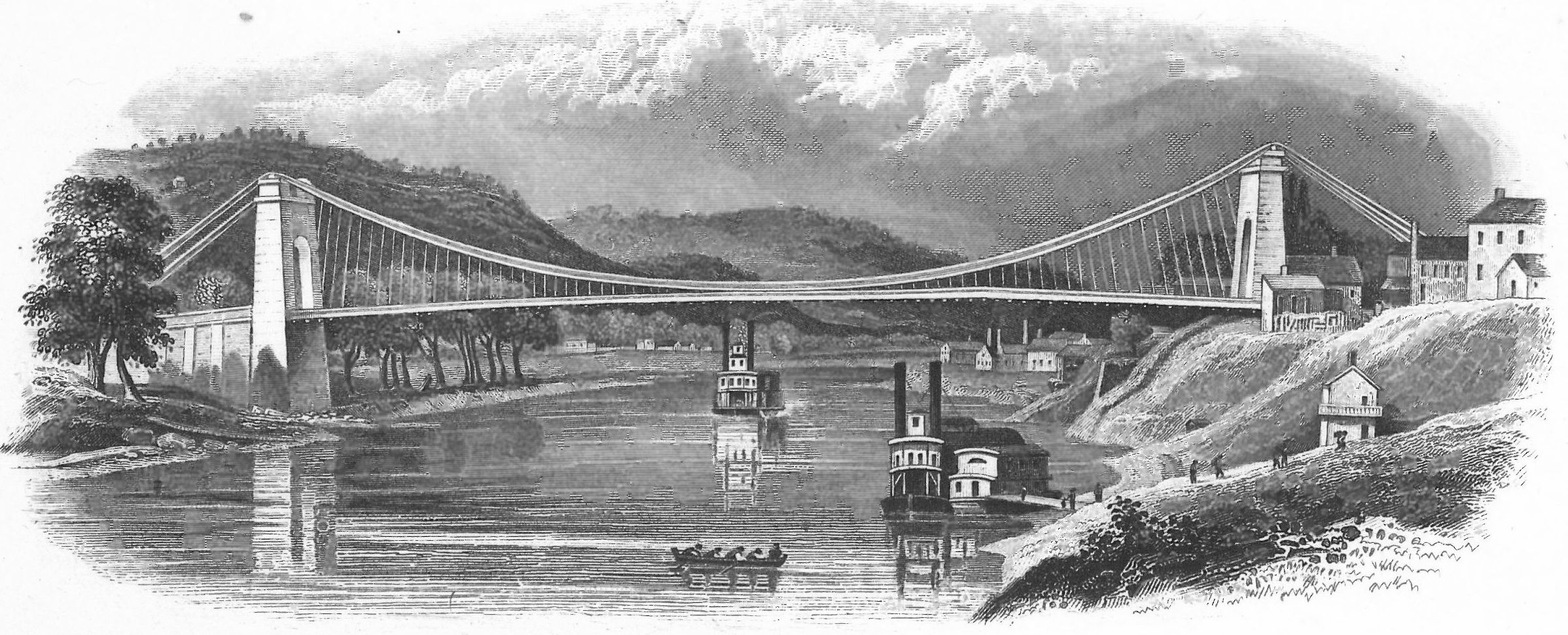 Stanton represented Pennsylvania in its suit against the Wheeling Suspension Bridge, which blocked steamboats from passing down the Ohio River.