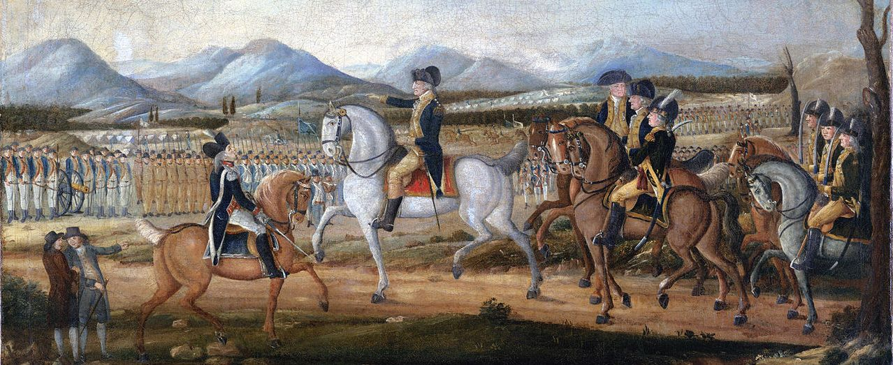 George Washington was the only President to lead troops in the field, when he George Washington reviews the troops near Fort Cumberland, Maryland, before their march to suppress the Whiskey Rebellion in western Pennsylvania.
