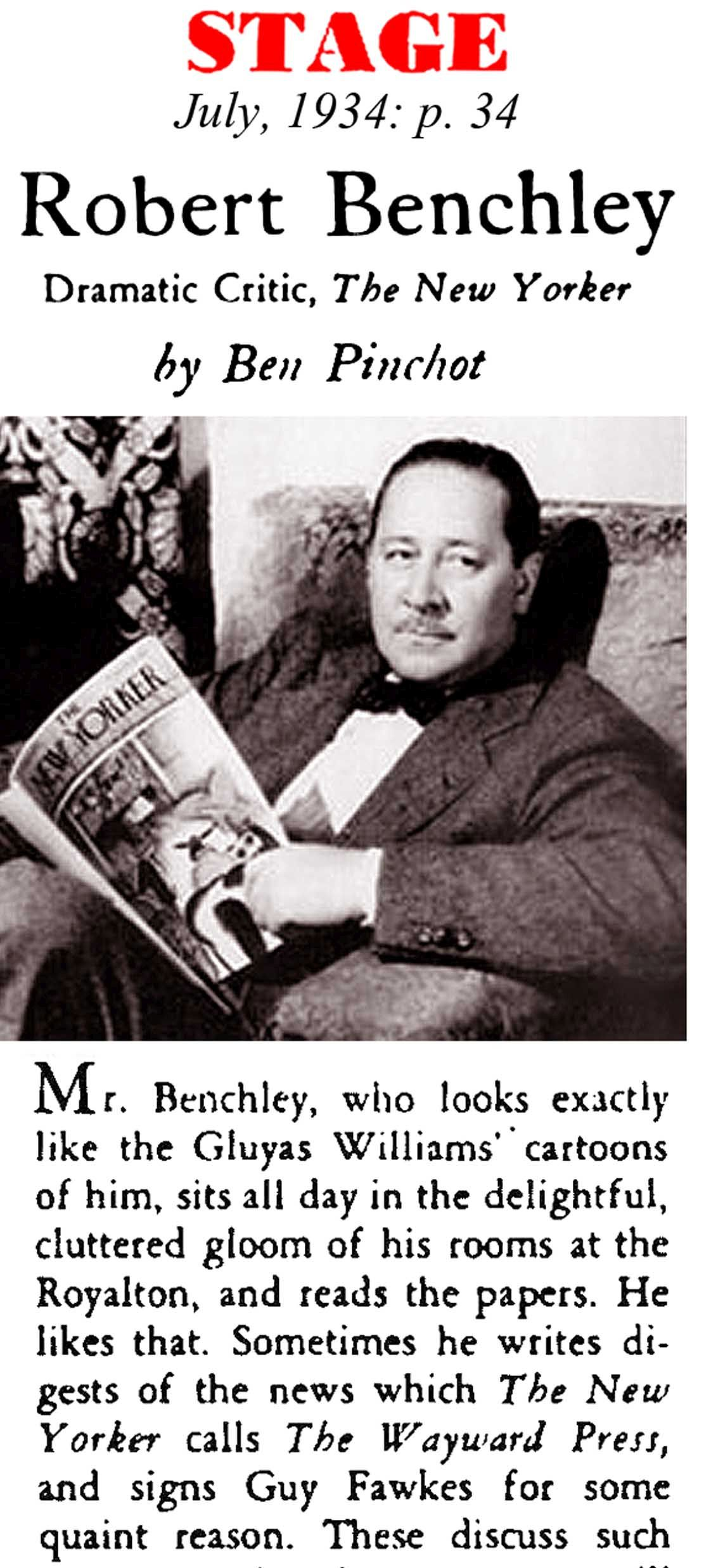 Who Was Robert Benchley