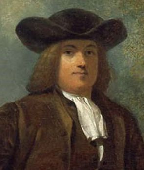 A member of the Religious Society of Friends (Quakers), William Penn welcomed members of all faiths when he founded the colony of Pennsylvania in 1682. His portait by Henry Inman (1832) hangs in Independence National Historical Park.