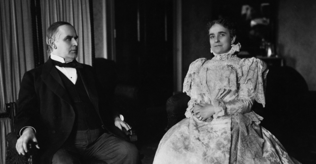 McKinley was always attentive to his wife Ida, whom he married in 1871.