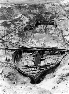 The steamboat Bertrand was taking supplies to a Montana mining town in 1865 when it wrecked and sank in the Missouri River north of Omaha. It was found in 1968. Credit www.fws.gov