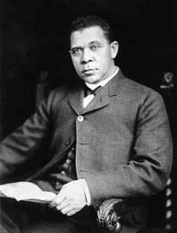 Booker T. Washington attracted the attention of the president of Hampton with his leadership abilities. Tuskegee Institute..