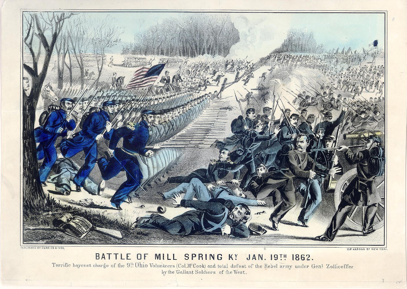 The Battle of Mill Springs. Currier & Ives.