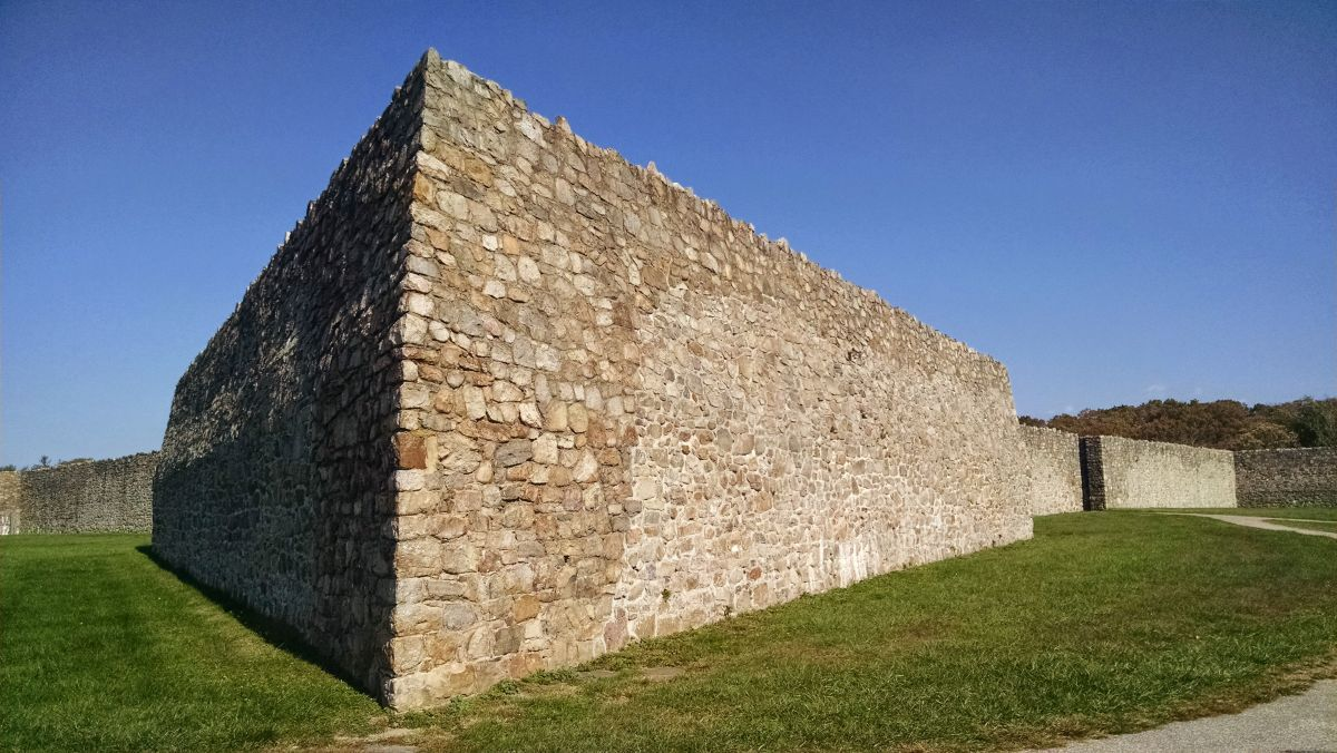 Exterior of Fort Frederick
