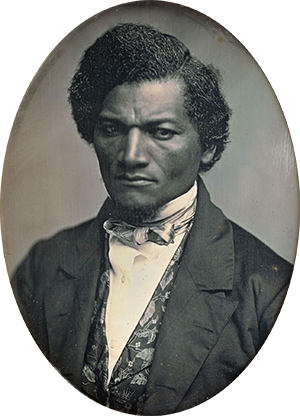 "A daguerrotype of Douglass around the time he was asked to talk on ""the meaning of the Fourth to the Negro."" Art Institute of Chicago."