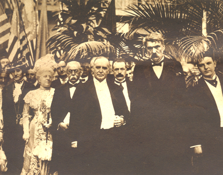 The last posed photograph of McKinley, taken before his speech at the Pan-American Exposition.