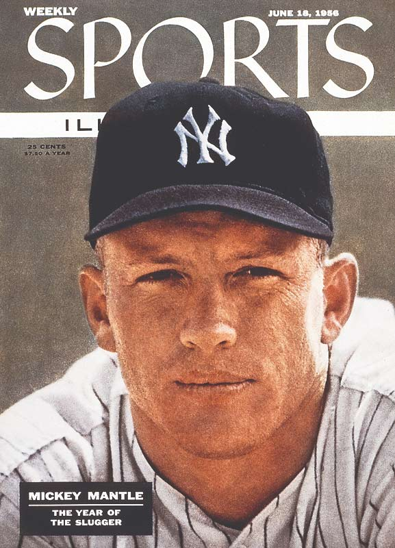 Mickey Mantle on the cover of Sports Illustrated