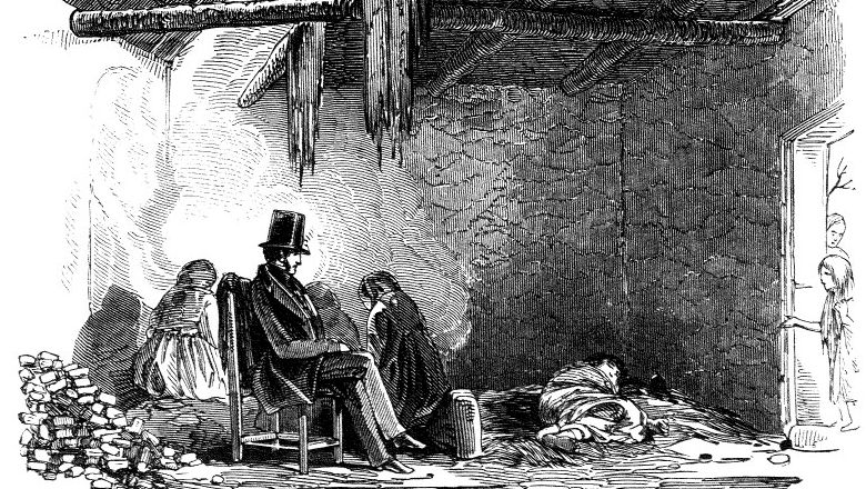 The Rev. Robert Traill visited the hut of a dying man in Scull who had buried his wife days before.