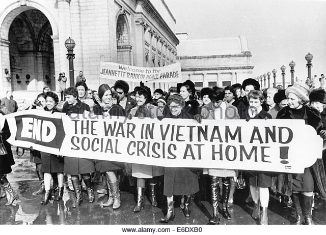 Rankin lived long enough to demonstrate against the war in Vietnam.