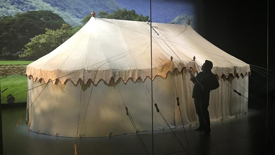 George Washington's original field tent is the centerpiece of the Museum of the American Revolution. Photo MAR.