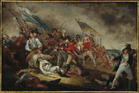 Death of General Warrent at the Battle of Bunker Hill