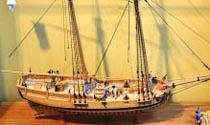 Model of Hannah, First U.S. Ship