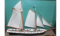 U.S.S. Ticonderoga-War of 1812 Model